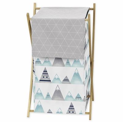 Mountains Grey and Aqua Collection Hamper