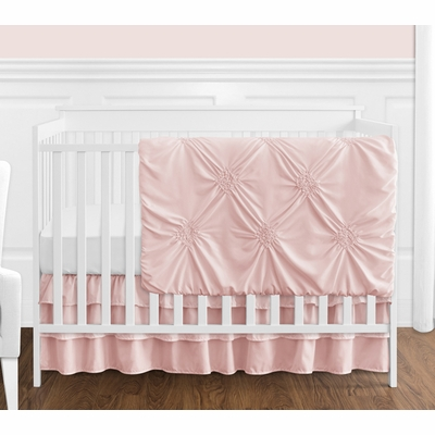 Harper Blush Pink Collection 4 Piece Crib Bedding