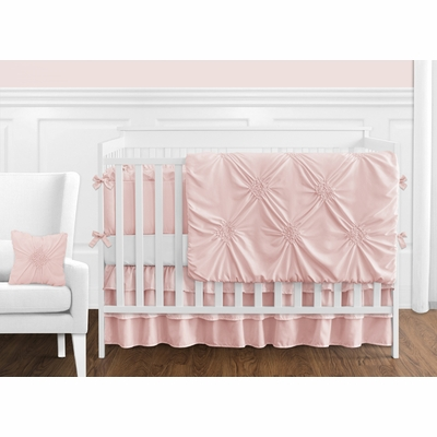 Harper Blush Pink Collection Crib Bedding