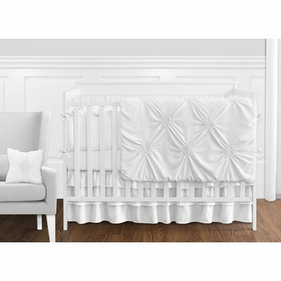 Harper White Collection Crib Bedding