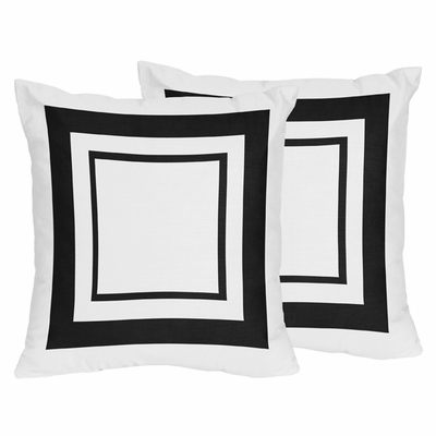 Hotel White And Black Collection Decorative Accent Throw Pillows Delectable Hotel Collection Decorative Pillows