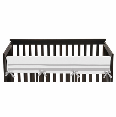 Hotel White and Gray Collection Long Rail Guard Cover