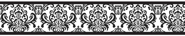 Isabella Black And White Collection Wallpaper Border Enlarge
