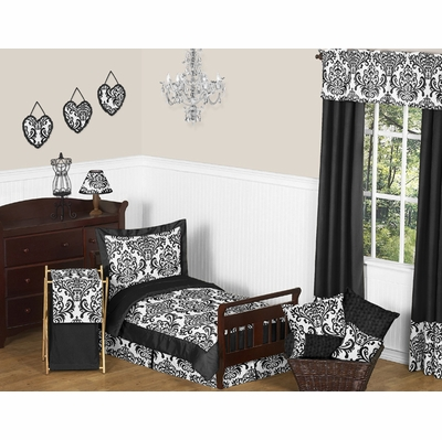 Isabella Black and White Toddler Bedding Collection