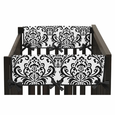 Isabella Hot Pink, Black and White Collection Side Rail Guard Covers - Set of 2