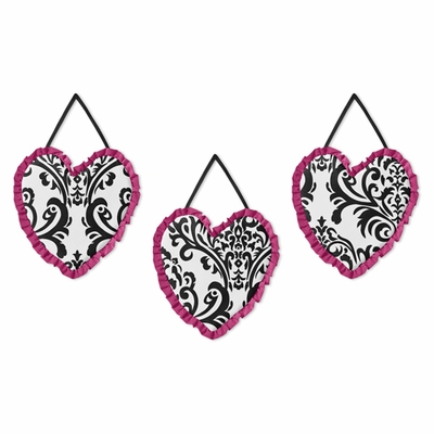 Isabella Hot Pink, Black and White Collection Wall Hangings
