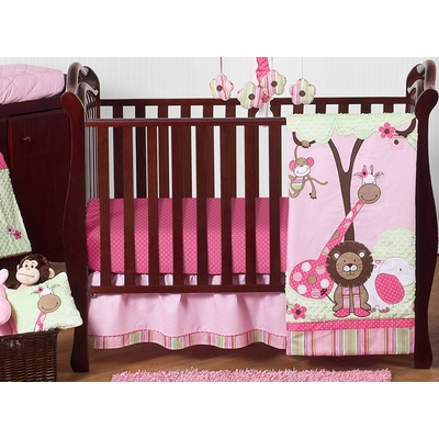 Jungle Friends 11 Piece Bumperless Crib Bedding Collection