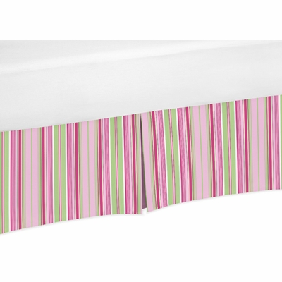 Jungle Friends Collection Stripe Print Crib Bed Skirt