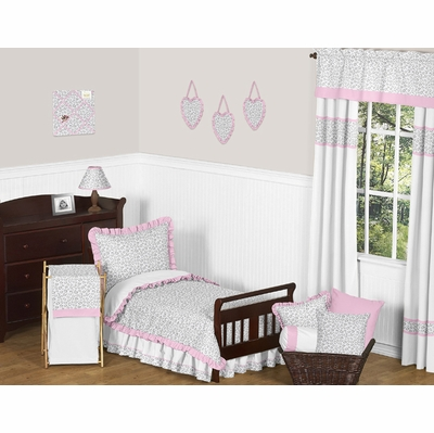 Kenya Pink and Gray Toddler Bedding Collection