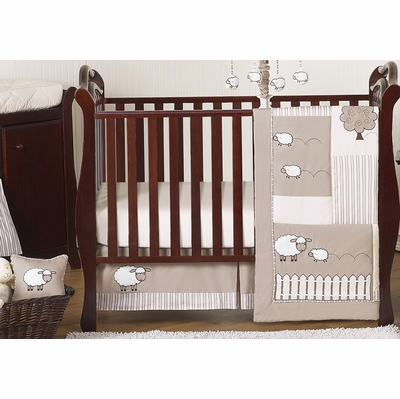 Lamb 11 Piece Bumperless Crib Bedding Collection