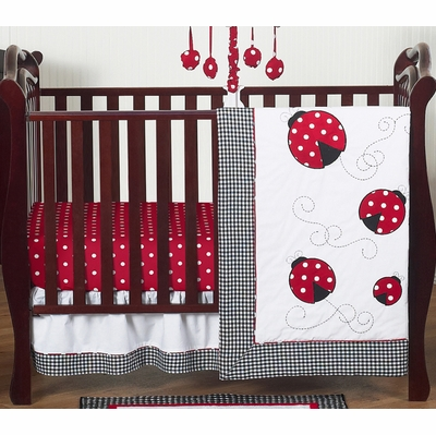 Little Ladybug 4 Piece Bumperless Crib Bedding Collection