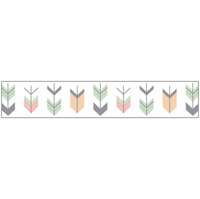 Mod Arrow Grey, Coral and Mint Collection Wallpaper Border