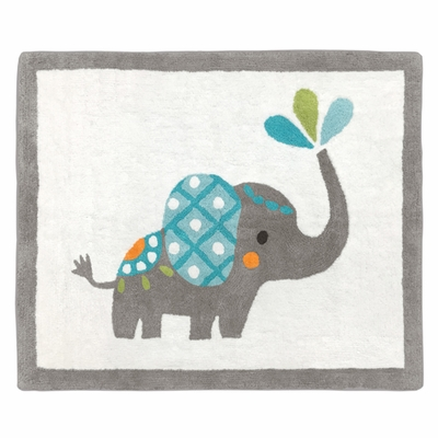 Mod Elephant Collection Accent Floor Rug
