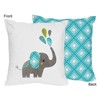 Mod Elephant Collection Decorative Accent Throw Pillow