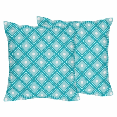 Mod Elephant Collection Decorative Accent Throw Pillows - Set of 2