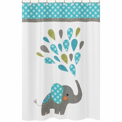 Mod Elephant Collection Shower Curtain