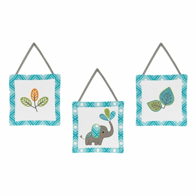 Mod Elephant Collection Wall Hangings