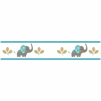 Mod Elephant Collection Wallpaper Border