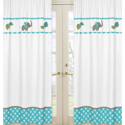 Mod Elephant Collection Window Panels - Set of 2