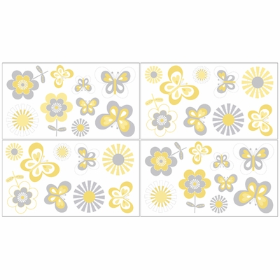 Mod Garden Wall Decals - Set of 4 Sheets