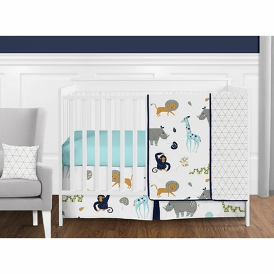 Mod Jungle 11 Piece Bumperless Crib Bedding Collection