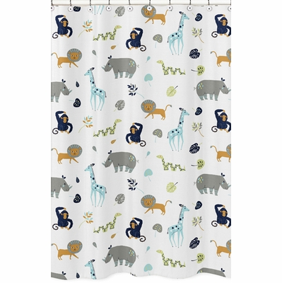 Mod Jungle Collection Shower Curtain