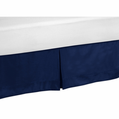 Navy Twin Bed Skirt for Stripe Navy and Lime Collection