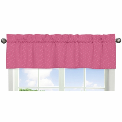 Owl Pink Collection Hatch Print Window Valance