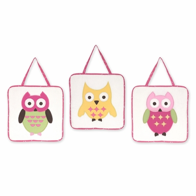 Owl Pink Wall Hangings