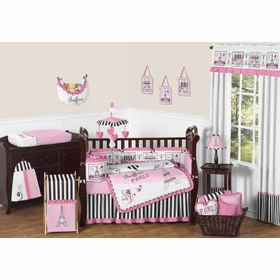 Paris Crib Bedding Collection