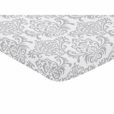 Elizabeth Pink and Gray Collection Mini Crib Sheet