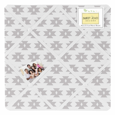 Aztec Pink and Grey Collection Fabric Memo Board