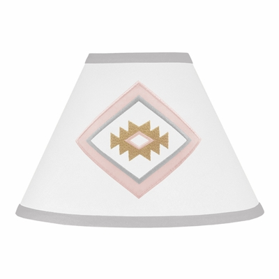 Aztec Pink and Grey Collection Lamp Shade
