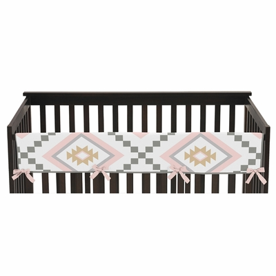 Aztec Pink and Grey Collection Long Rail Guard Cover