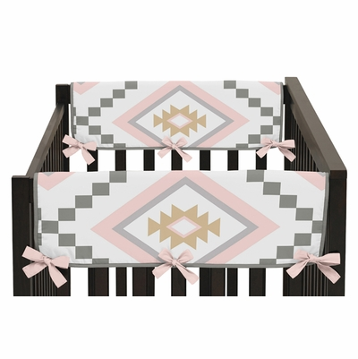 Aztec Pink and Grey Collection Side Rail Guard Covers - Set of 2