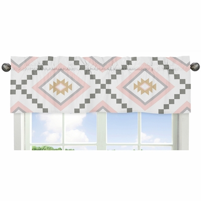 Aztec Pink and Grey Collection Window Valance