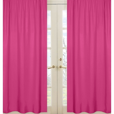 Pink Window Panels for Chevron Pink and White Collection  - Set of 2