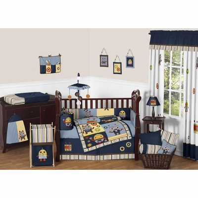 Robot Crib Bedding Collection
