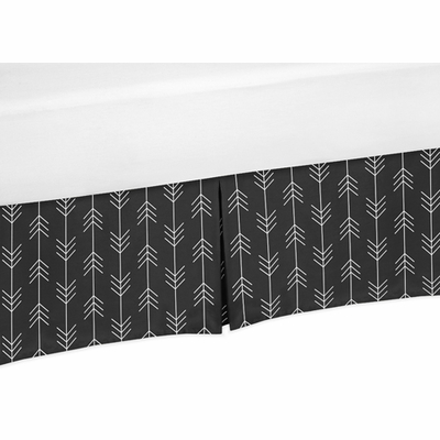 Rustic Patch Collection Arrow Print Crib Bed Skirt