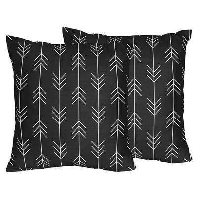 Rustic Patch Collection Arrow Print Decorative Accent Throw Pillows - Set of 2