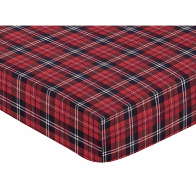 Rustic Patch Collection Crib Sheet - Plaid