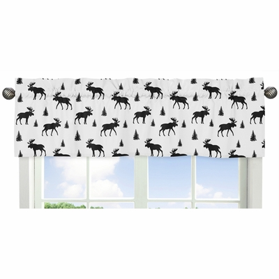 Rustic Patch Collection Moose Print Window Valance