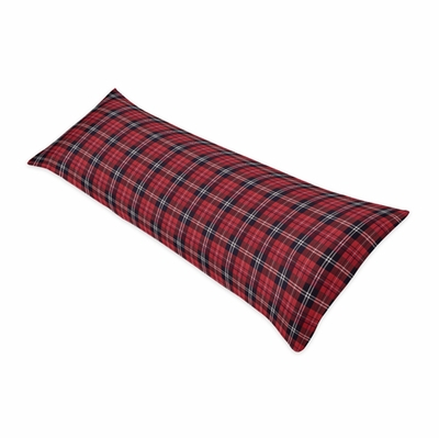 Rustic Patch Collection Plaid Full Length Body Pillow Cover