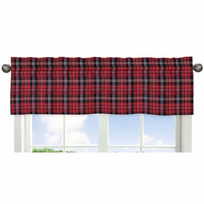 Rustic Patch Collection Plaid Window Valance