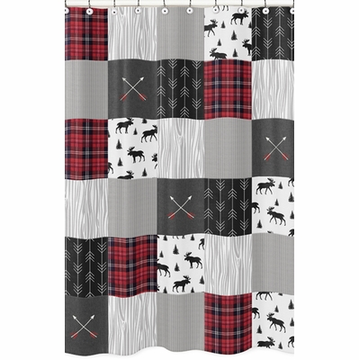 Rustic Patch Collection Shower Curtain