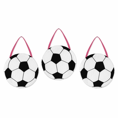 Soccer Pink Wall Hangings