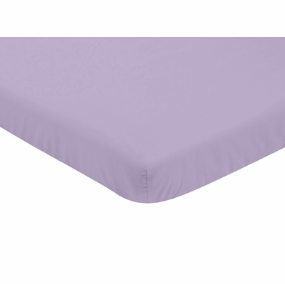 Solid Lavender Mini Crib Sheet