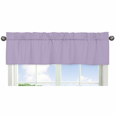 Solid Lavender Window Valance