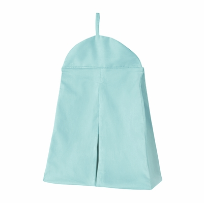 Solid Turquoise Blue Diaper Stacker