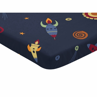 Space Galaxy Collection Mini Crib Sheet